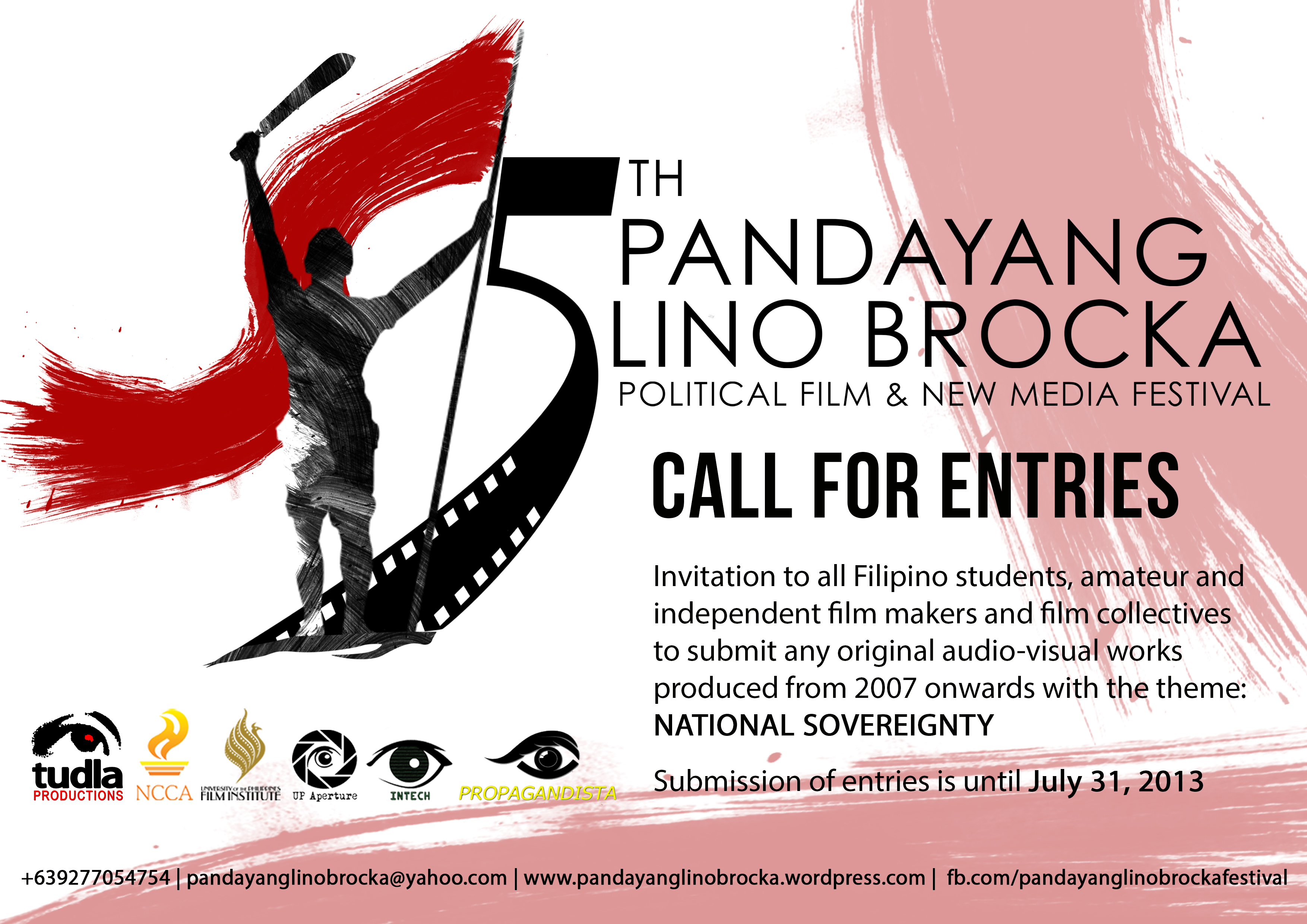 Call for entries 5th pandayang lino brocka political film and new 5th plb postercall for entriesa4 stopboris Choice Image